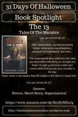 31 Days Of Halloween - The 13-Tales Of The Macabre - Book Spotlight